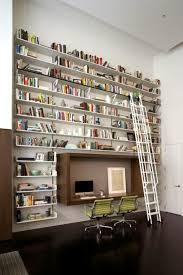 Rolling Bookcase Ladder by Trendy Bookcase With Rolling Ladder Nytexas