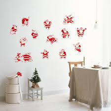 christmas wall decor santa claus sacks send gifts to kids children wall stickers merry
