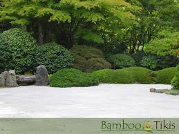 zen rock garden wallpaper bamboo and tikis