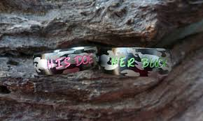 his and camo wedding rings camo ring set his camouflage stainless steel rings