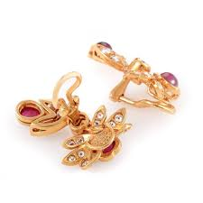 chaumet earrings chaumet ruby diamond gold clip on earrings for sale at 1stdibs