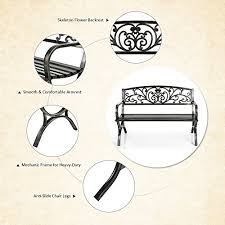 Patio Furniture Cyber Monday Patio Lawn Garden Cheapest Ikayaa Patio Garden Bench Iron Park