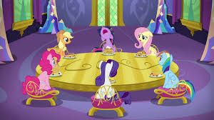 image mane six sitting around dining room table s5e3 png my