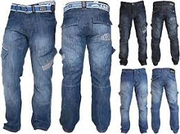 light stone washed mens jeans mens crosshatch combat cargo jeans denim trousers stone dark or