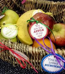 fruit basket ideas appreciation day fruit basket free printable tags