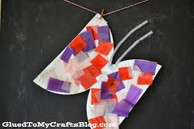 paper plate butterfly kid craft glued to my crafts