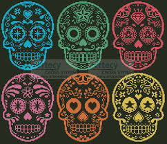 artecy cross stitch sugar skulls cross stitch pattern to