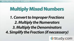 multiplying fractions and mixed numbers video u0026 lesson