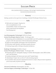 radiologic technologist resume skills best lead mammography technologist resumes resumehelp
