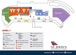 Airport Terminal Floor Plans Maps St John U0027s International Airport