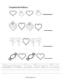 valentine u0027s day pattern fun worksheet twisty noodle