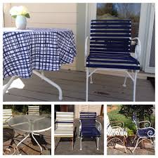 Replacement Straps For Patio Chairs Patio Table Chairs Re Do Before And After Dated Patio Furniture