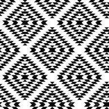 black and white aztec ornaments geometric ethnic seamless pattern
