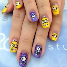 minions nails 2013 2014 despicable me 2 nail art designs