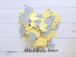 elephant confetti baby shower decorations gender neutral baby