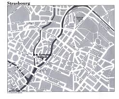 Strasbourg France Map by