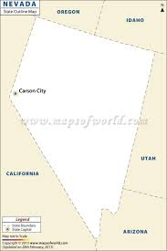 Map Of Nevada And Utah by Blank Map Of Nevada Nevada Outline Map