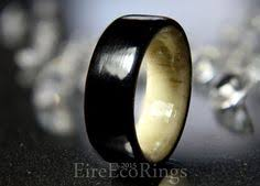 bog the wedding band wedding band ring bog oak wood with wicklow black marble and