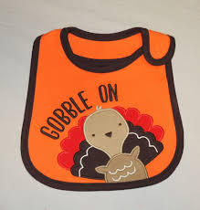 thanksgiving bib new unisex baby s thanksgiving bib gobble on turkey