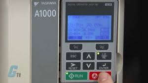 yaskawa a1000 ac drive basic start up using the keypad youtube
