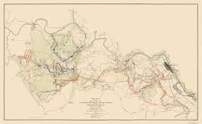 Civil War States Map Civil War Map Chancellorsville U0026 Fredericksburg 1863