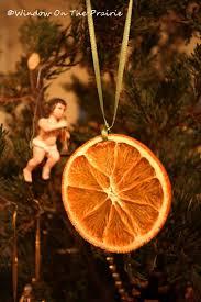dried orange slice ornaments window on the prairie