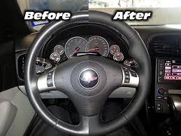 corvette steering wheel cover c7 corvette 2014 2016 leather steering wheel cover two tone