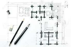 House Architecture Drawing Architectural Drawing A Sketch With Pencil House Plan Stock