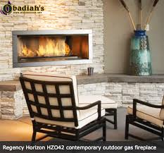 Modern Outdoor Gas Fireplace by Regency Hzo42 Linear Contemporary Outdoor Vent Free Gas Fireplace