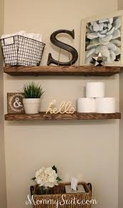 Floating Wood Shelves Diy by Best 20 Floating Shelves Bathroom Ideas On Pinterest Bathroom