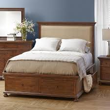 Tufted Bed With Storage Peter Andrews Furniture And Gifts Geneva Hills Queen Size