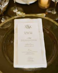 place cards etiquette menu cards from real weddings martha stewart weddings
