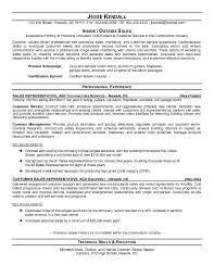 inside sales resume outside sales resume sle free templates template builder
