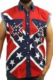 Confederate Flag Pin Men U0027s Confederate Rebel Flag Sleeveless Denim Shirt Confederate