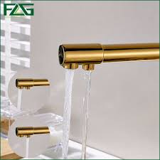 Kitchen Drinking Water Faucet Aliexpress Com Buy Flg 100 Copper Gold Finished Swivel Drinking