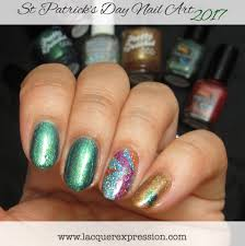 step by step nail art thursday green gold and rainbow nails