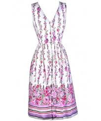 print dress purple and pink floral print dress floral print sundress