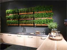 modern white green stainless steel kitchen worktops indoor herb