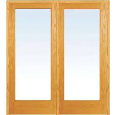 X  Unfinished Wood Wood French Doors Interior - Home depot french doors interior