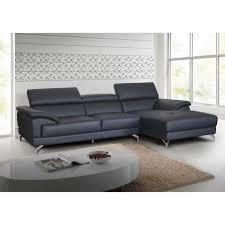 canap cuir gris salon d angle en cuir gris anthracite moderne lucia meuble house