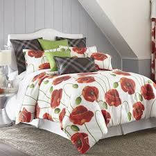 Twin Plaid Comforter Shop Colcha Linens Poppy Plaid Bed Linens The Home Decorating
