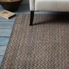 Pottery Barn Heathered Chenille Jute Rug Jute Chenille Herringbone Rug Natural Slate West Elm