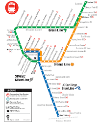 Map A Route by Trolley San Diego Metropolitan Transit System
