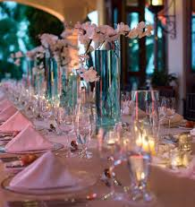 caribbean themed wedding ideas caribbean islands blue wedding reception centerpiece jpg