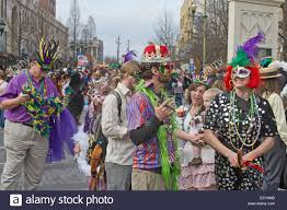 mardi gras wear wear costumes and colorful masks in the annual mardi gras