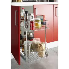 tiroir coulissant meuble cuisine panier coulissant pour meuble l 60 cm leroy merlin