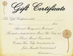 Free Online Certificate Template Gift Certificate