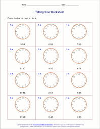 telling time third grade worksheets free worksheets library