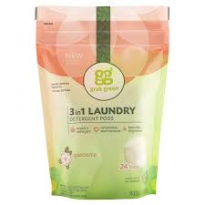3 in 1 gardenia laundry detergent grab green