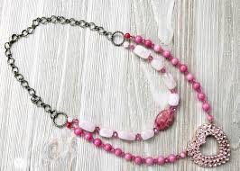 pink necklace images Pretty in pink upcycled necklace jpg